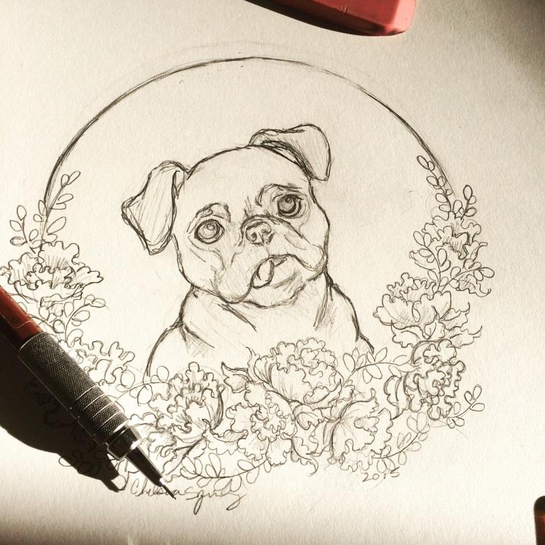 Mr Pug by Chelsea Ann Spring